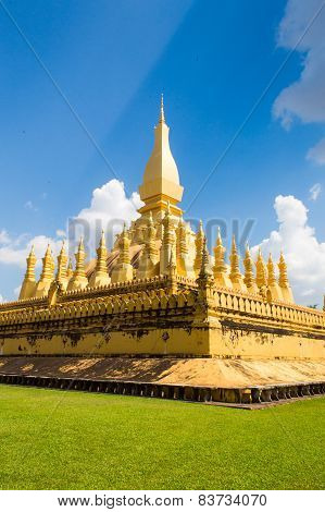 The Golden Or Great Stupa, Pha That Luang, Vientiane, Loas