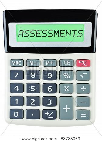 Calculator With Assessments On Display