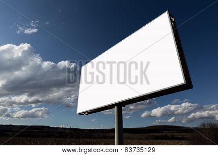 Big advertising billboard