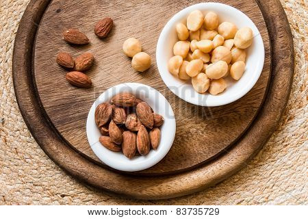 Macadamia And Almonds