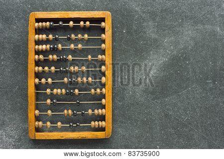 Abacus On Chalkboard