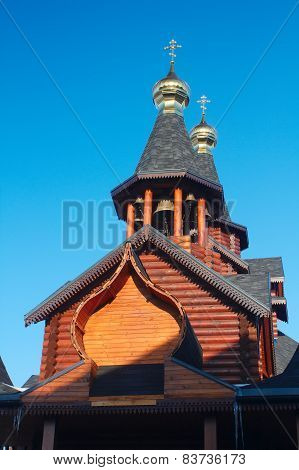 Orthodox Russian And Ukrainian Wooden Church In Kharkov