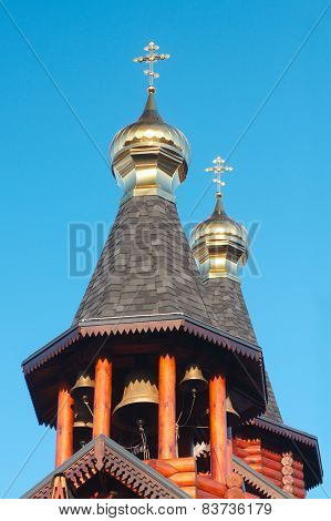 Orthodox Russian And Ukrainian Wooden Church In Kharkov
