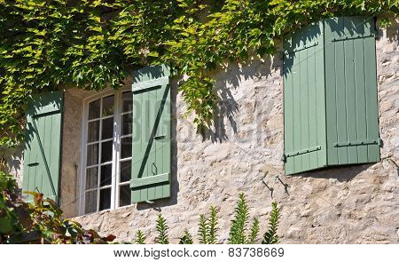 Shutters On A French Village Home