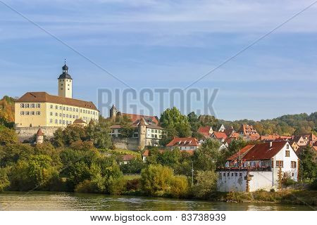 The Castle On The River Neckar,germany