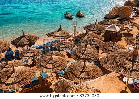 Red Sea coastline in Sharm El Sheikh