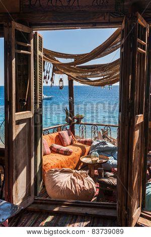 authentic arabian cafe on the Red Sea coast, Sharm El Sheikh