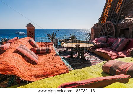 authentic cafe on the Red Sea coast