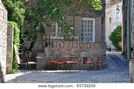 A Cafe In A Pretty French Village