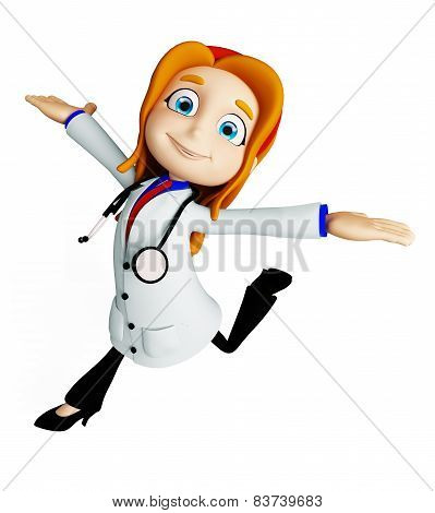 Doctor With Running Pose