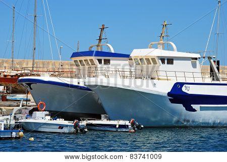 Spanish fishing trawlers, Carboneras.