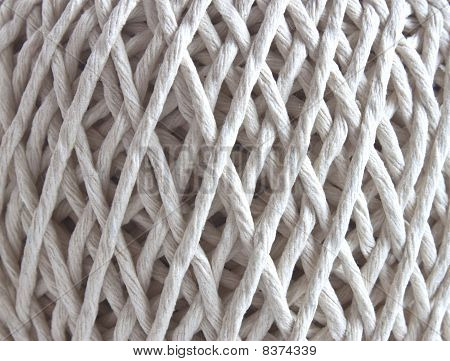 Ball Of String In Closeup