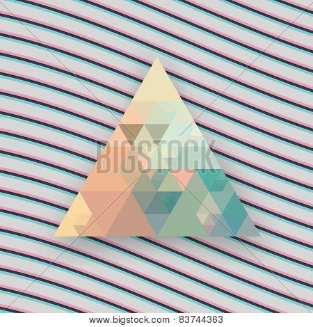Hipster triangle background