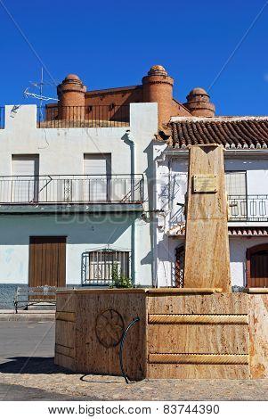 Fountain in town, La Calahorra.