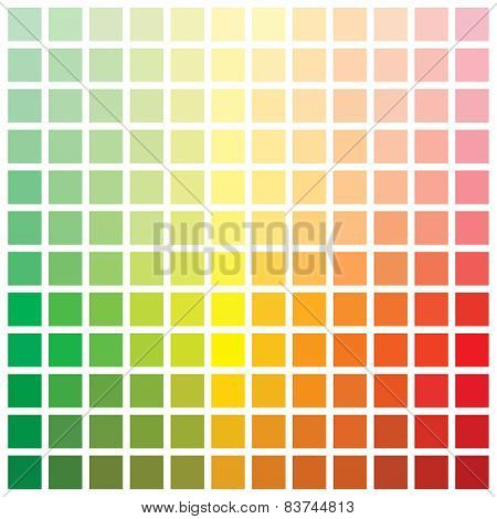Colorful series of squares or pixels