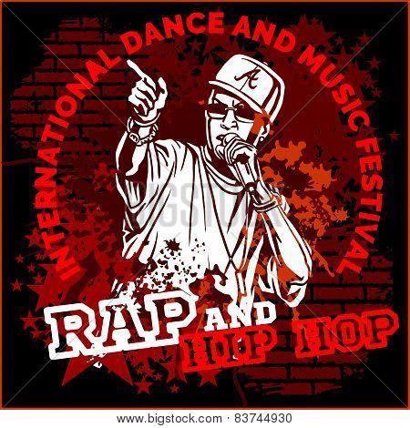 Rap hip hop graffiti - vector poster