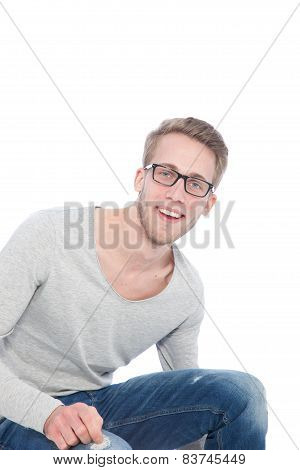 Young Sympathetic Smiling Young Man