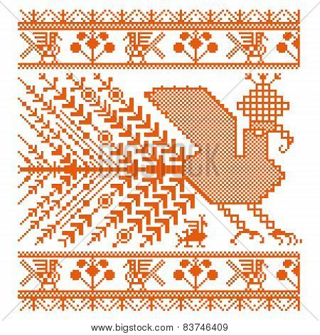 Russian old embroidery and patterns