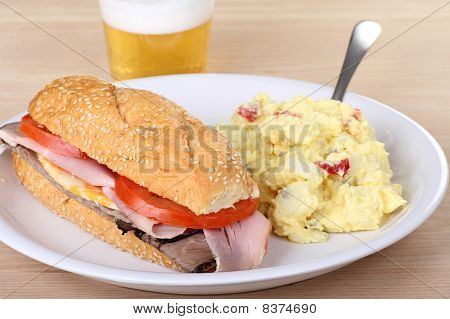 Ham And Roast Beef Sandwich