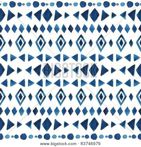Watercolor Ethnic Seamless Pattern.