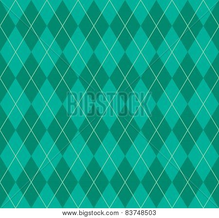 Seamless Green Argyle Pattern