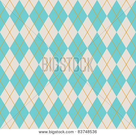 Seamless Blue Argyle Pattern.