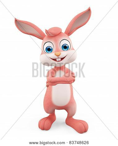 Easter Bunny With Folding Hand