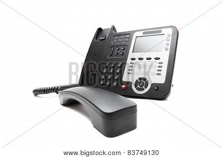 Black Ip Phone Isolated