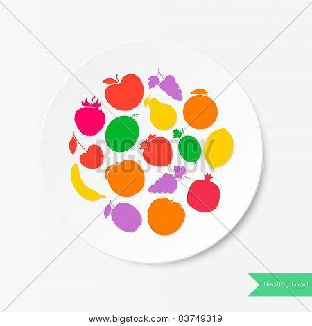 Fruit Plate. Healthy Food.