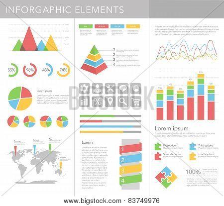 Infographics elements vector set