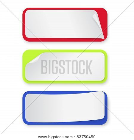 Set of stickers-banners for design. Vector illustration