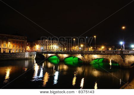 Grattan Bridge Over the River Liffey