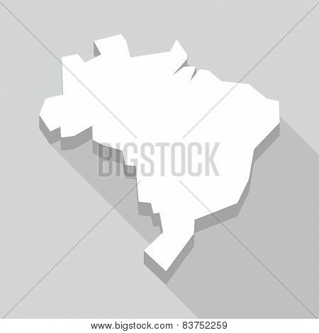 Long Shadow Brazil Map