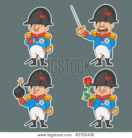 Napoleon Bonaparte character in various poses