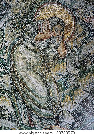 Byzantine mosaic  in Church of Hosios David