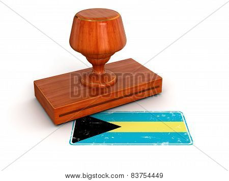 Rubber Stamp Bahama flag (clipping path included)