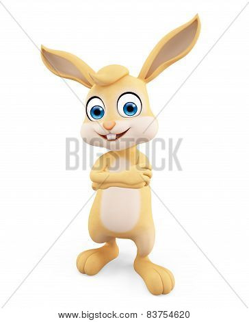 Easter Bunny With Folding Hand Pose