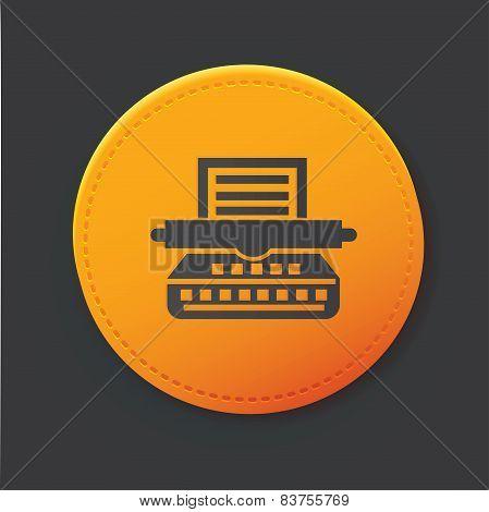 Printer button,clean vector