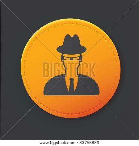 Spy button,clean vector