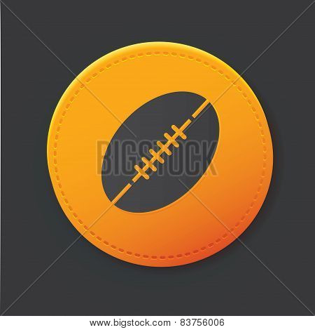 Rugby button,clean vector