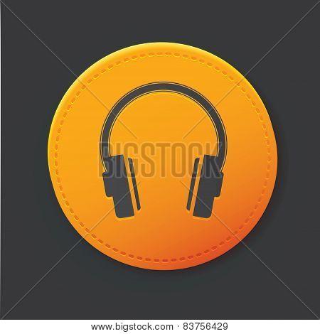 Earphone button,clean vector