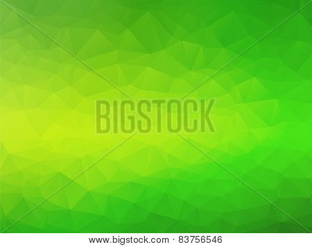 Abstract Triangular Yellow Green Bio Background