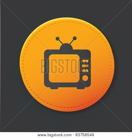 Television button,clean vector