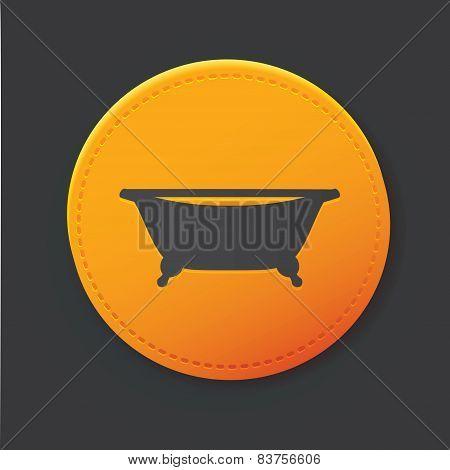 Bath button,clean vector