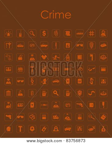 Set of crime simple icons