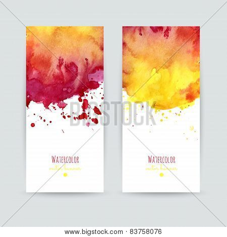 Set Of Two Colorful Business Cards Templates.