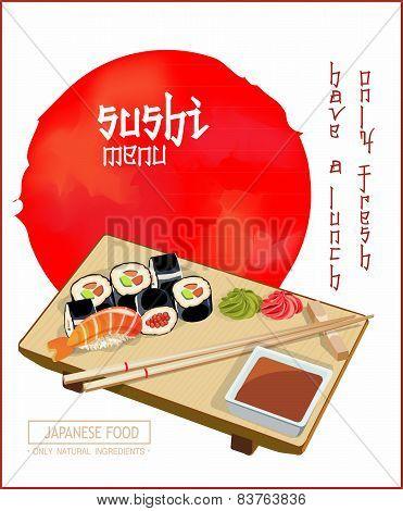 Sushi menu.
