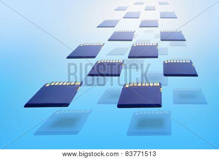 Blue Memory Cards