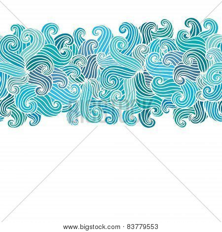Hand Drawn Wavy Modern Background.