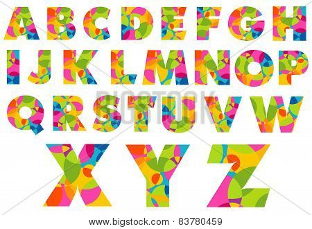 Alphabet Colorful Letters